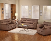 Cocoa Linen Sofa Set Avalon by Acme Furniture AC51690SET