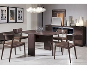 Coffee Oak Folding Dining Set in Modern Style 44D551T-SET