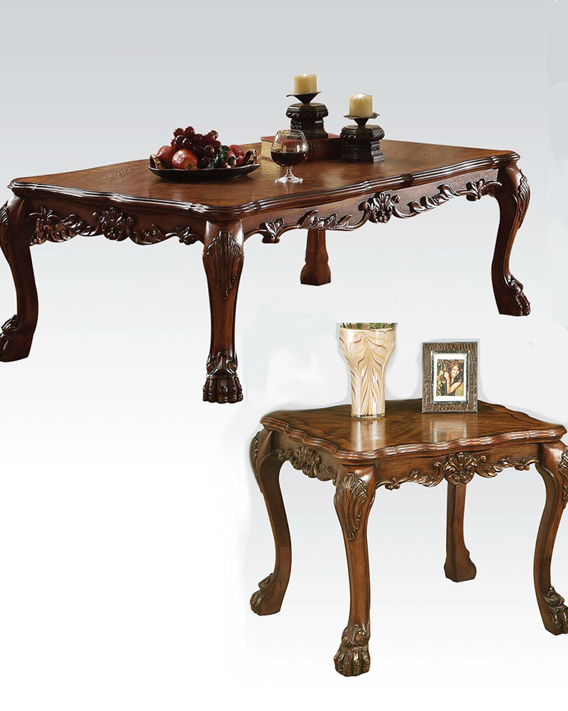 Coffee table in traditional style dresden by acme ac12165set Traditional coffee tables and end tables
