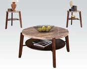 Coffee Table w/ Faux Marble Top Lucille Espresso by Acme AC80083