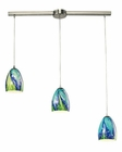 ELK Colorwave Collection 3 Light Chandelier in Satin Nickel EK-31445-3L-TB