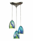 ELK Colorwave Collection 3 Light Chandelier in Satin Nickel EK-31445-3TB