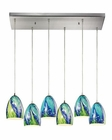ELK Colorwave Collection 6 Light Chandelier in Satin Nickel EK-31445-6RC-TB
