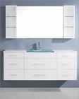 Columbo White 63in Single Bathroom Set by Virtu USA VU-UM-3089-G-WH