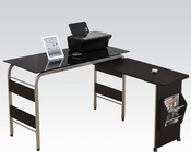 Computer Desk in Black Tempered Glass by Acme Furniture AC92058