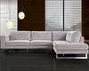 Contemporary 2pc Sectional Sofa Set 44L0659