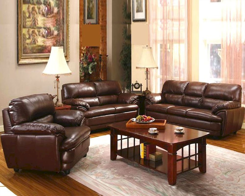 Contemporary 4 pc Leather Living Room Set MO-AZN
