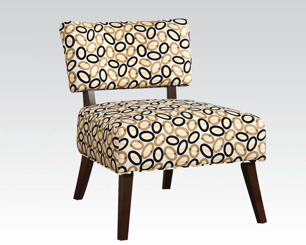 Contemporary accent chair in fabric by acme furniture ac59073 for Modern accent chairs