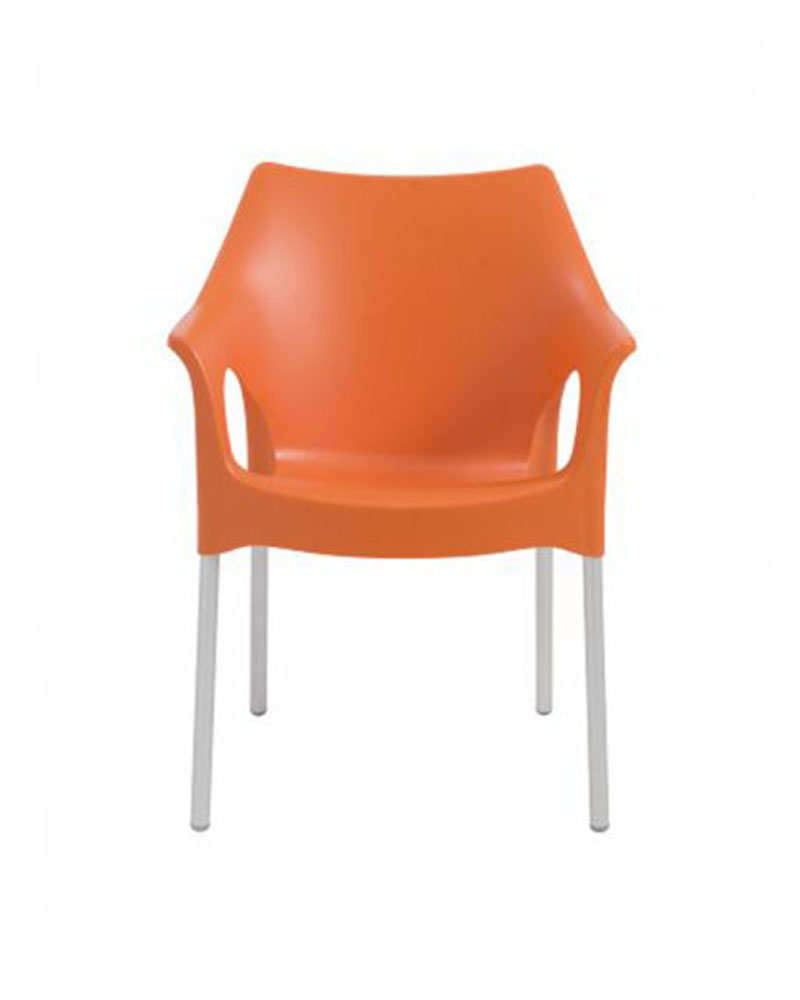 Contemporary arm chair ola by euro style eu 21 ac set of 4 for Modern arm chair