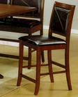 Contemporary Bar Stool in Dark Brown - Coaster CO-101792 (Set of 2)
