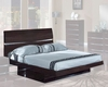 Contemporary Bed Anetta in Wenge Finish 35B92