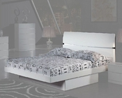 Contemporary Bed Anetta in White 35B82