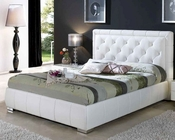 Contemporary Bed in White Finish 33B562