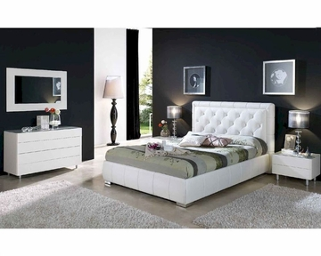 Contemporary Bedroom Set In White Finish 33b561