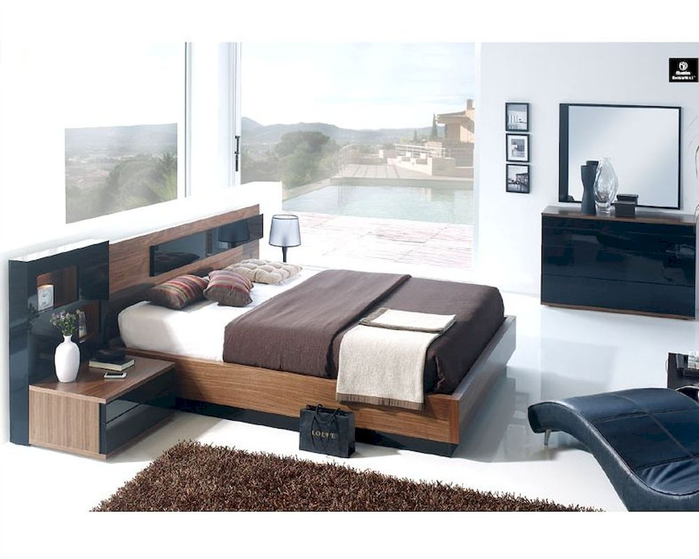Contemporary bedroom set made in spain 33b181 for Bedroom furniture spain