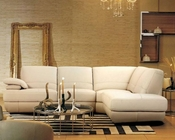 Contemporary Beige Leather Sectional Sofa 44L208-8