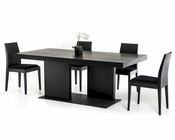 Contemporary Black Dining Set w/ Oak Dining Table 44D190T-SET