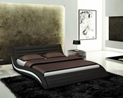 Contemporary Black Eco-Leather Bed 44B182BD