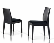 Contemporary Black Fabric Dining Chair 44DN23 (Set of 2)
