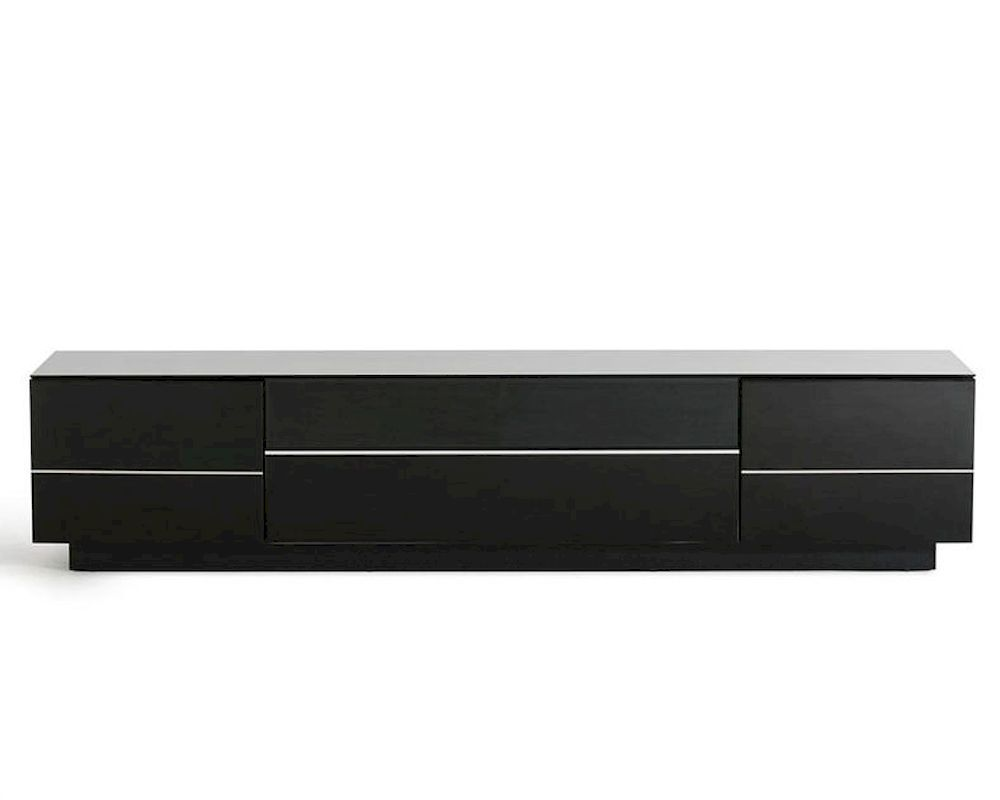 Contemporary Black High Gloss Tv Stand 44ent6202