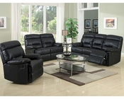Contemporary Black Leather Set MCFSF8009
