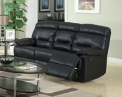 Contemporary Black Leather Sofa MCFSF8009-S