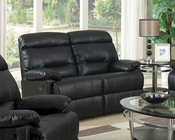 Contemporary Black Loveseat MCFSF8009-L