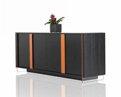 Contemporary Black Oak Buffet 44D167M
