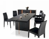 Contemporary Black Oak Dining Set w/ Floating Table 44D167T-SET