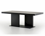 Contemporary Black Oak Dining Table 44D190T-BLK