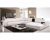 Contemporary Leather Sectional Sofa 44L5963