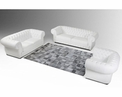 Contemporary Bonded Leather Sofa Set 44L6027
