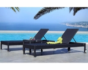 Contemporary Bronze Wicker Lounge Set 44P112-LSET