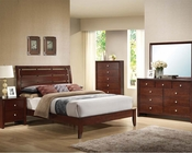 Contemporary Brown Cherry Bedroom Set Ilana by Acme AC20400SET