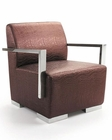 Contemporary Brown Leather Lounge Chair 44LG013