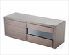 Contemporary Brown Oak Adjustable TV Stand 44ENT510