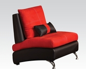 Contemporary Chair Jolie Red by Acme Furniture AC51747