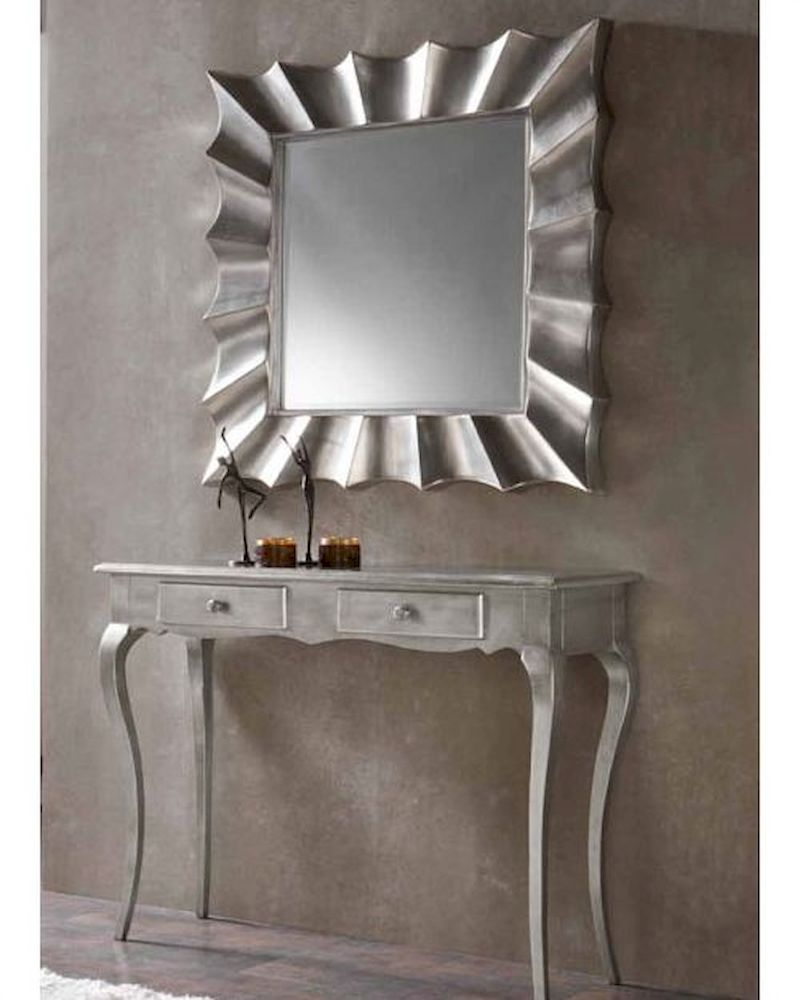 Contemporary Foyer Table And Mirror : Contemporary console table and mirror set c