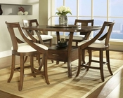 Contemporary Counter Height Set Gatsby by Somerton SO-422-68SET