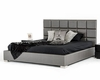 Contemporary Dark Grey Leatherette Bed 44B102BD