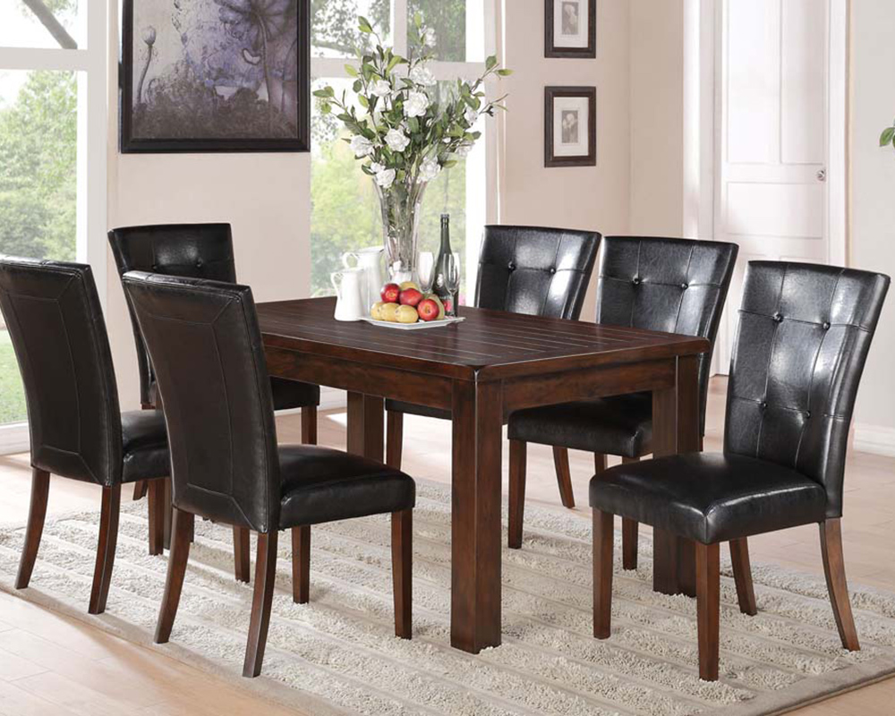 Contemporary dining set easton by acme ac71140set for Dining room tables easton