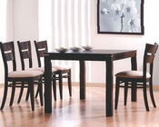 Contemporary Dining Set in Cappucino MO-6750