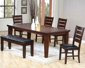 Contemporary Dining Set in Dark Oak MO-2842