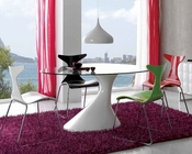 Modern Dining Set w/ Glass Top Table 33D441