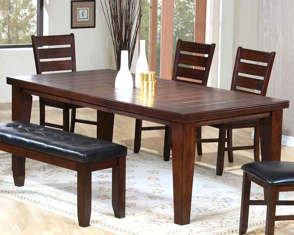Contemporary dining table in dark oak mo 2842tb