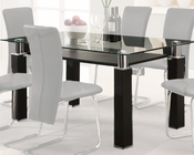 Contemporary Dining Table Riggan by Acme Furniture AC60200A