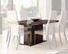 Contemporary Dining Table w/ 17in Extension Leaf 33D502