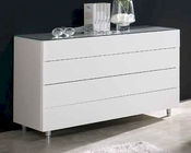 Contemporary Dresser in White Finish 33B565