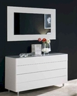 Contemporary Dresser w/ Mirror in White Finish 33B564