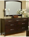 Contemporary Dresser w/ Mirror Solitude by Ayca AY-170608DM